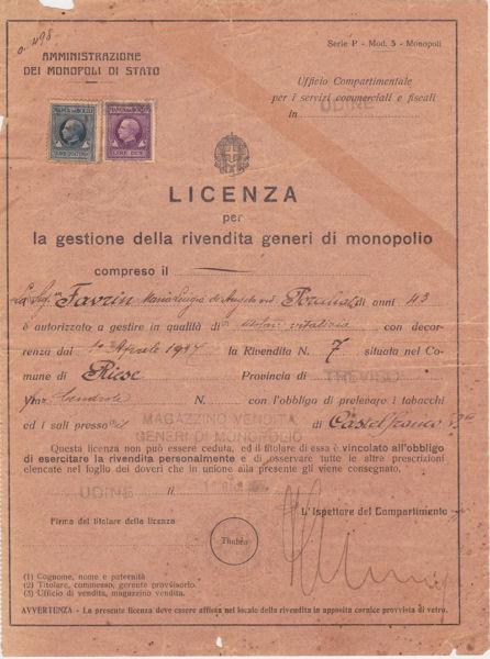 """Licenza di """"Casolin"""""""